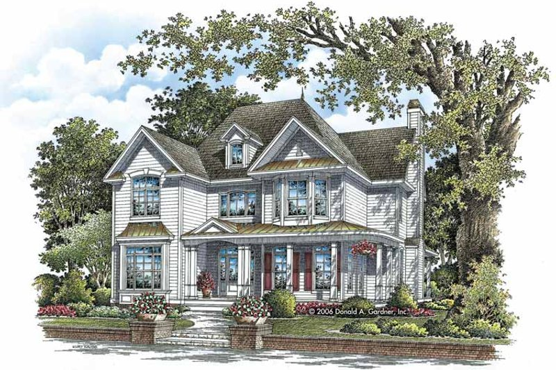 Traditional Exterior - Front Elevation Plan #929-812 - Houseplans.com
