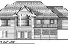 Dream House Plan - European Exterior - Rear Elevation Plan #70-881