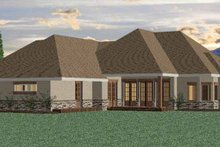 Country Exterior - Rear Elevation Plan #937-13