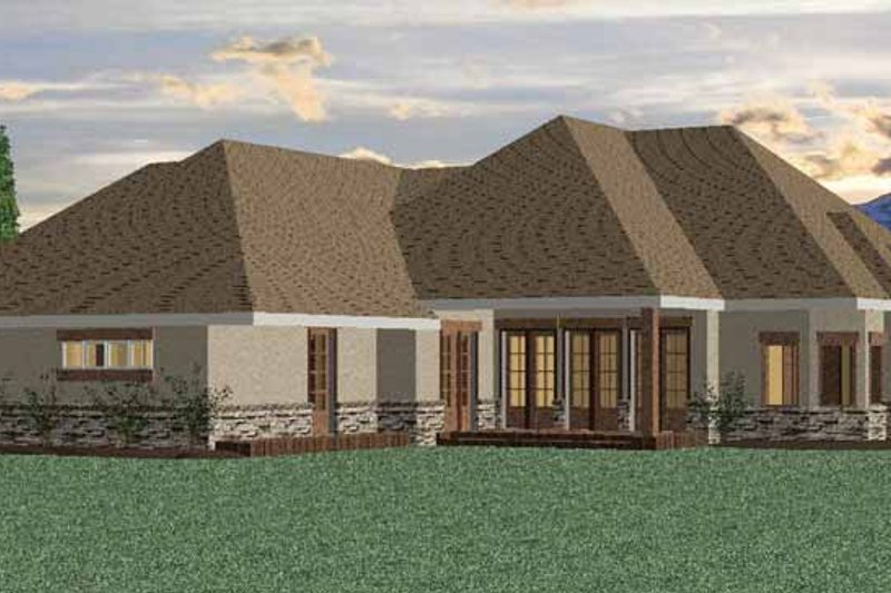 Country Exterior - Rear Elevation Plan #937-13 - Houseplans.com