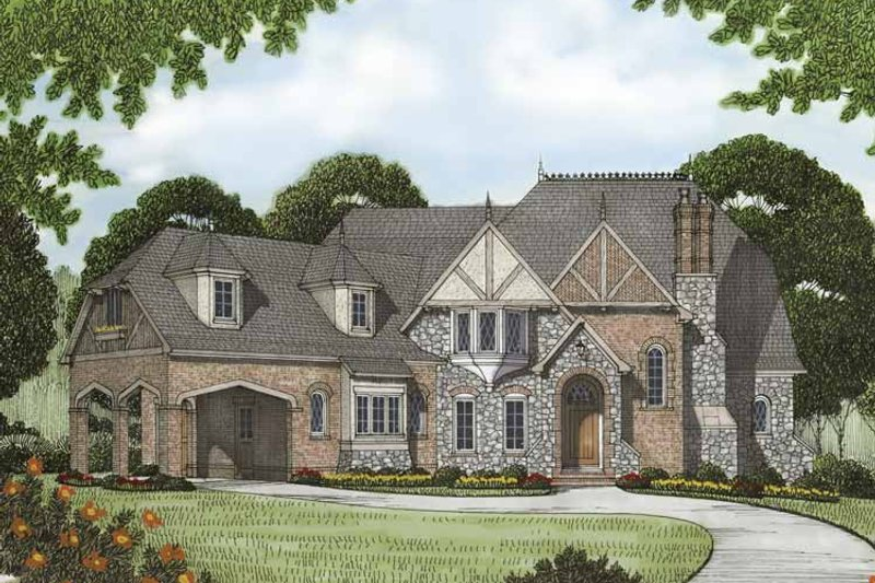 Tudor Exterior - Front Elevation Plan #413-904 - Houseplans.com