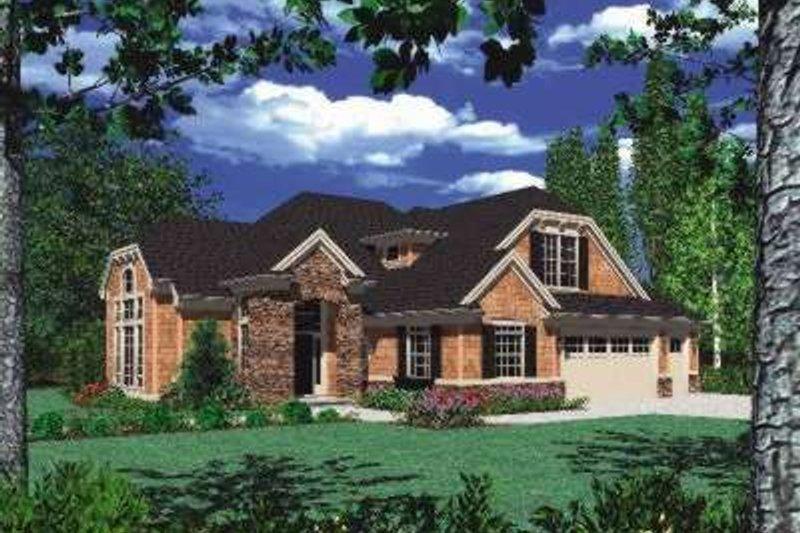 Home Plan - European Exterior - Front Elevation Plan #48-157