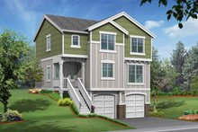 Home Plan - Craftsman Exterior - Front Elevation Plan #132-289