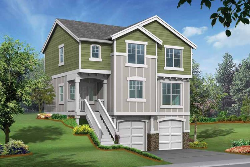 Craftsman Exterior - Front Elevation Plan #132-289