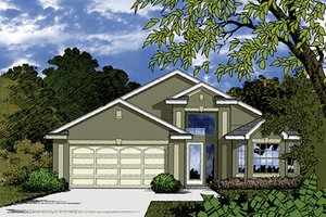 Mediterranean Exterior - Front Elevation Plan #417-820
