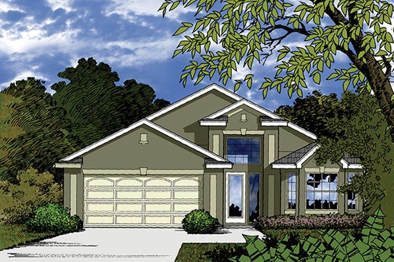 House Plan Design - Mediterranean Exterior - Front Elevation Plan #417-820
