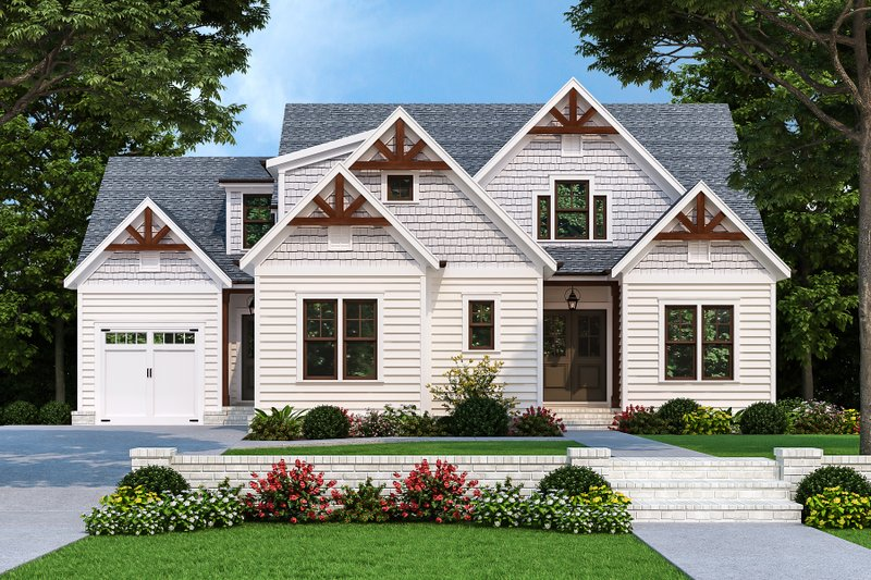House Design - Farmhouse Exterior - Front Elevation Plan #927-1022