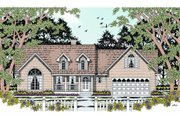 Country Style House Plan - 4 Beds 2 Baths 1615 Sq/Ft Plan #42-360 Exterior - Front Elevation