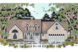 Country Exterior - Front Elevation Plan #42-360