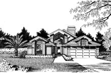 Home Plan - Prairie Exterior - Front Elevation Plan #417-463