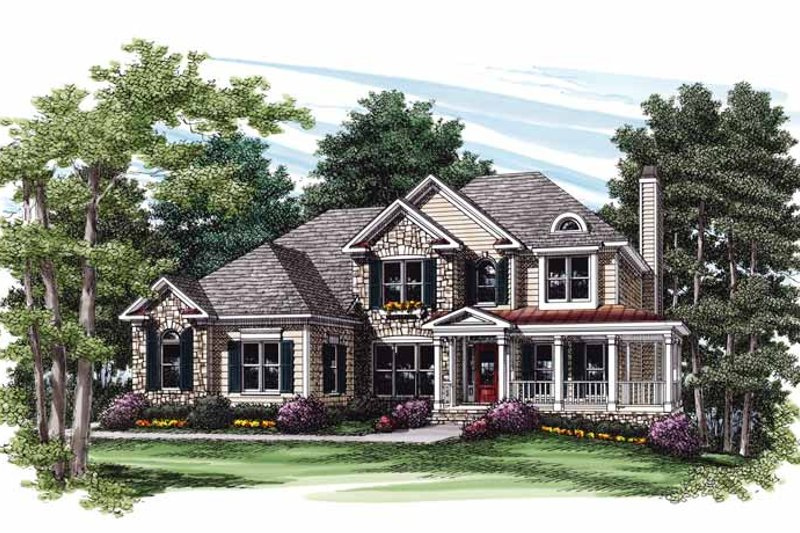 Country Exterior - Front Elevation Plan #927-565