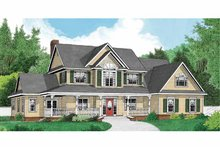 Architectural House Design - Country Exterior - Front Elevation Plan #11-271