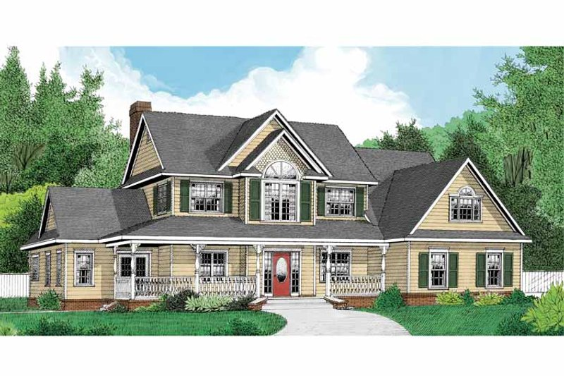 Country Exterior - Front Elevation Plan #11-271 - Houseplans.com