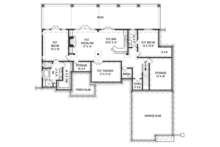 Craftsman Floor Plan - Lower Floor Plan Plan #119-425