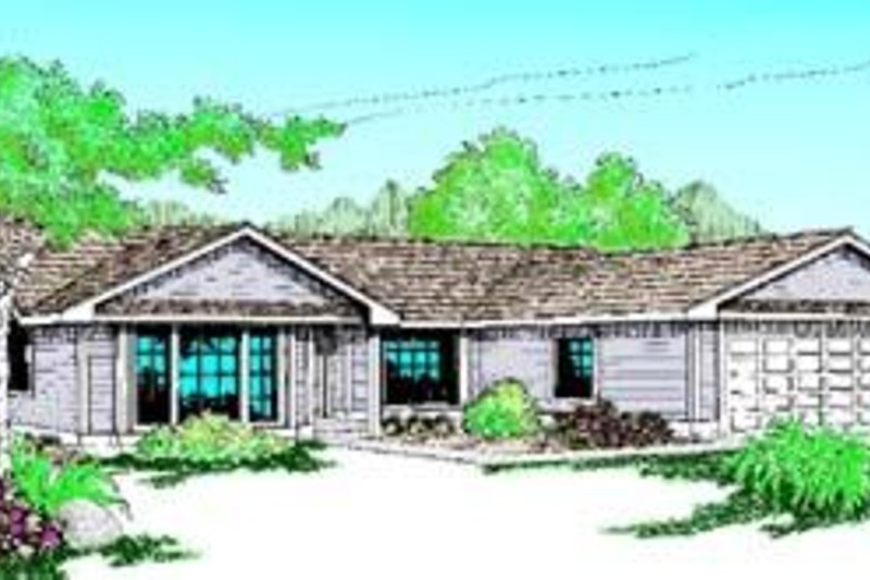 Ranch Exterior - Front Elevation Plan #60-415 - Houseplans.com