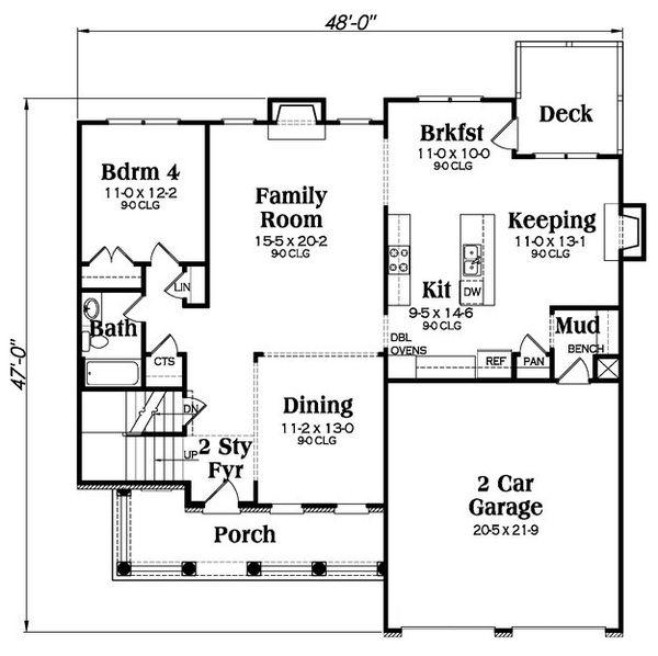 Farmhouse Floor Plan - Main Floor Plan Plan #419-257