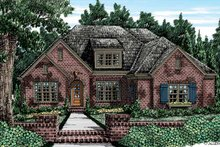 European Exterior - Front Elevation Plan #927-405