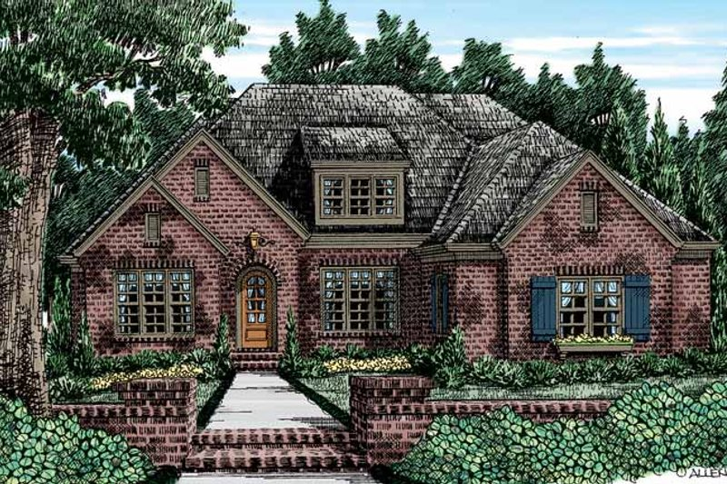 House Plan Design - European Exterior - Front Elevation Plan #927-405