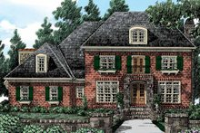 Home Plan Design - European Exterior - Front Elevation Plan #927-417