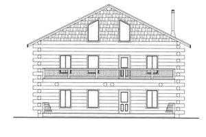 House Design - Log Exterior - Front Elevation Plan #117-822