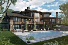 Prairie Exterior - Rear Elevation Plan #942-37