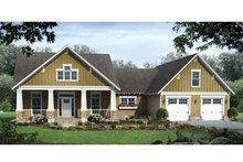 Country Exterior - Front Elevation Plan #21-427