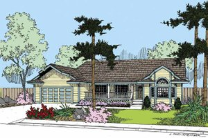 Dream House Plan - Country Exterior - Front Elevation Plan #60-1007