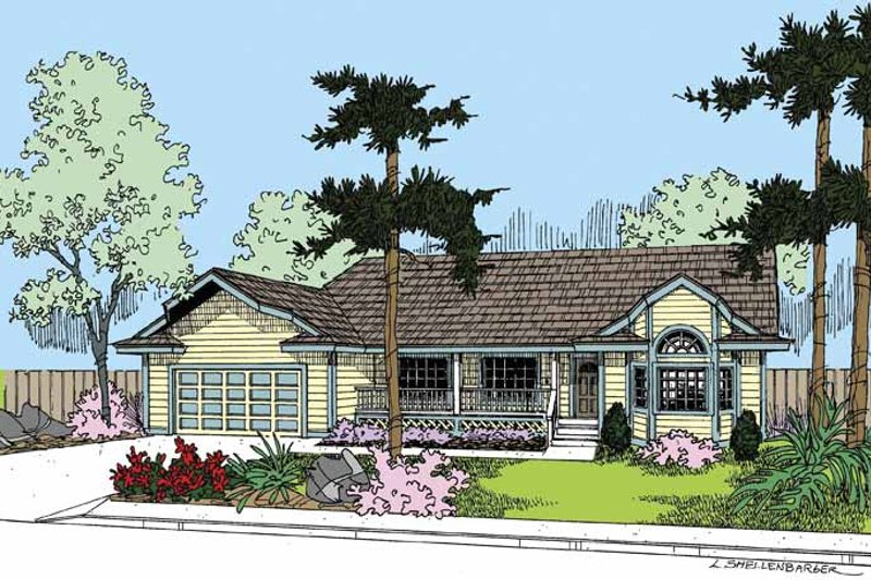 Country Exterior - Front Elevation Plan #60-1007