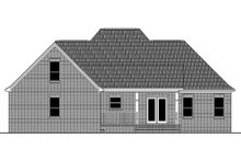 House Plan Design - Country Exterior - Rear Elevation Plan #21-368