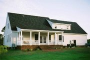 Southern Style House Plan - 3 Beds 2.5 Baths 2038 Sq/Ft Plan #137-123 Exterior - Rear Elevation