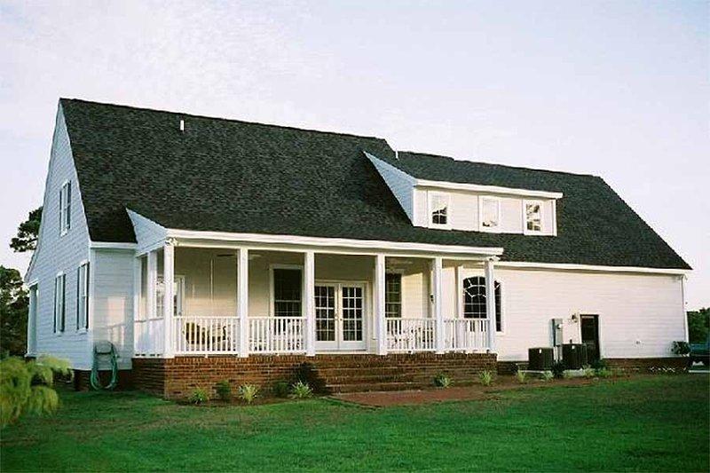 Southern Exterior - Rear Elevation Plan #137-123 - Houseplans.com