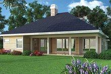 Home Plan - Ranch Exterior - Rear Elevation Plan #417-800