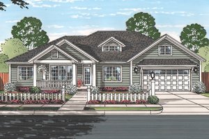 House Design - Ranch Exterior - Front Elevation Plan #513-2160