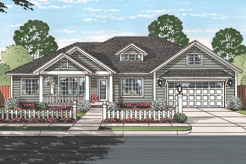 Dream House Plan - Ranch Exterior - Front Elevation Plan #513-2160