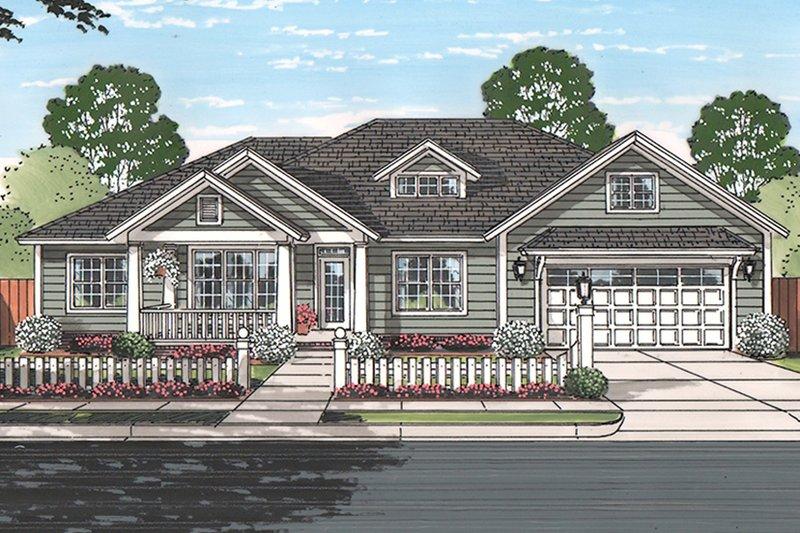 House Plan Design - Ranch Exterior - Front Elevation Plan #513-2160