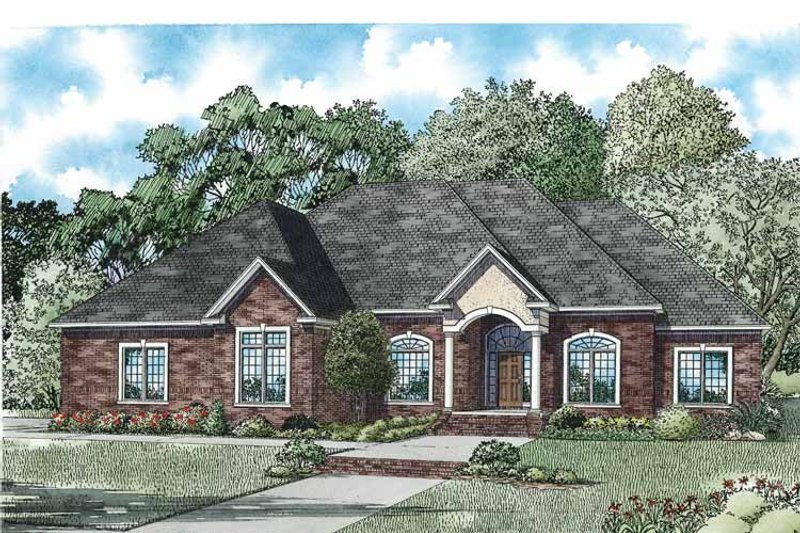 Country Exterior - Front Elevation Plan #17-3364 - Houseplans.com