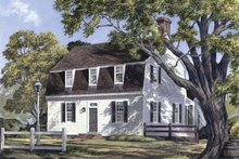 House Plan Design - Colonial Exterior - Front Elevation Plan #137-342