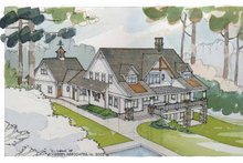 Craftsman Exterior - Rear Elevation Plan #928-21