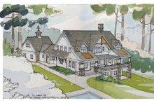 House Plan Design - Craftsman Exterior - Rear Elevation Plan #928-21