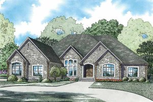 Architectural House Design - European Exterior - Front Elevation Plan #17-3351