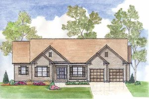 Dream House Plan - Traditional Exterior - Front Elevation Plan #435-18