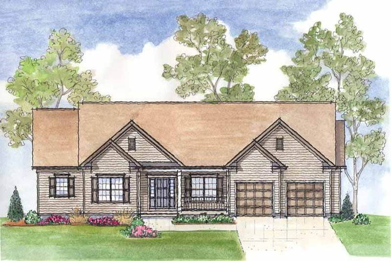 Traditional Exterior - Front Elevation Plan #435-18 - Houseplans.com