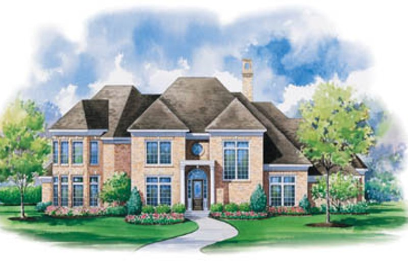 Traditional Exterior - Front Elevation Plan #20-1186 - Houseplans.com