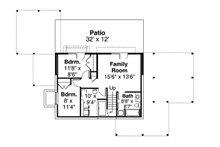 Contemporary Floor Plan - Lower Floor Plan Plan #124-1169