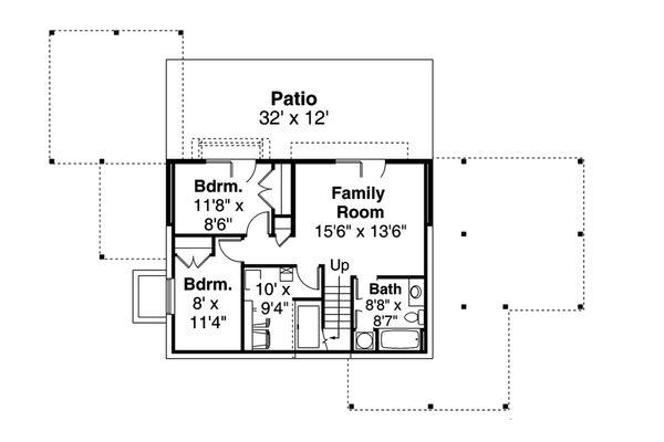 House Plan Design - Contemporary Floor Plan - Lower Floor Plan #124-1169