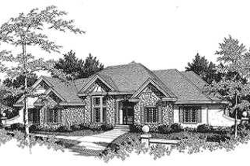 Dream House Plan - Exterior - Front Elevation Plan #70-474