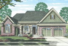Cottage Exterior - Front Elevation Plan #46-844