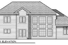 Dream House Plan - Traditional Exterior - Rear Elevation Plan #70-846