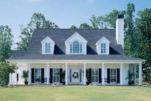 Country Exterior - Front Elevation Plan #929-96