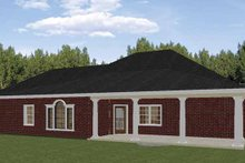 Dream House Plan - Traditional Exterior - Rear Elevation Plan #44-213
